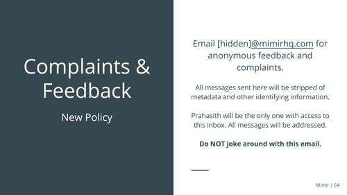 Mimir+ComplaintsAndFeedback