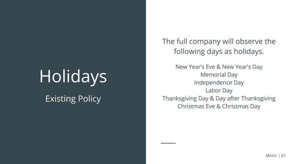 Mimir+Holidays