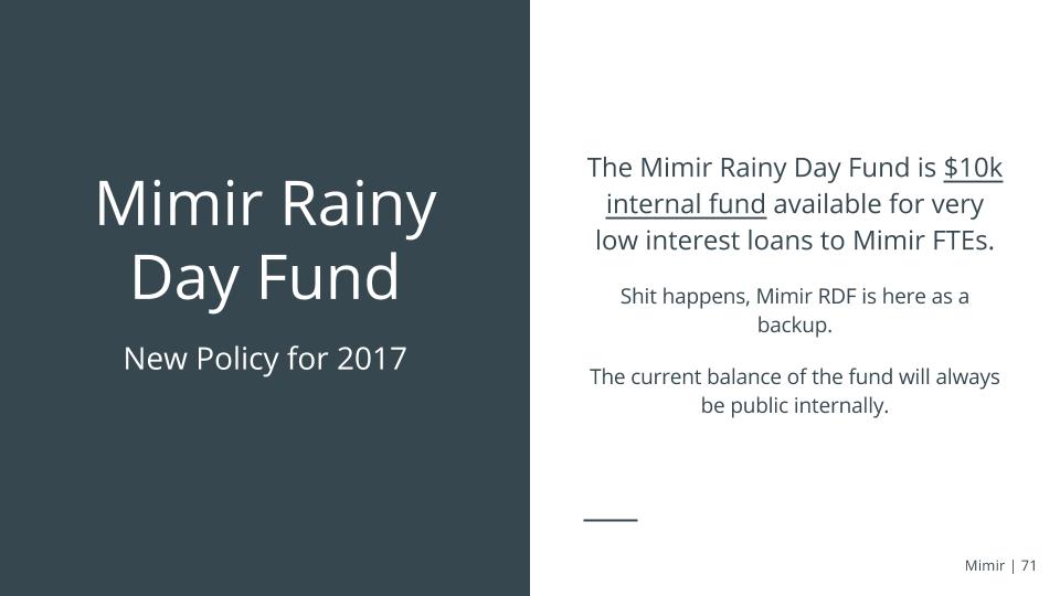 Mimir+RainyDayFund